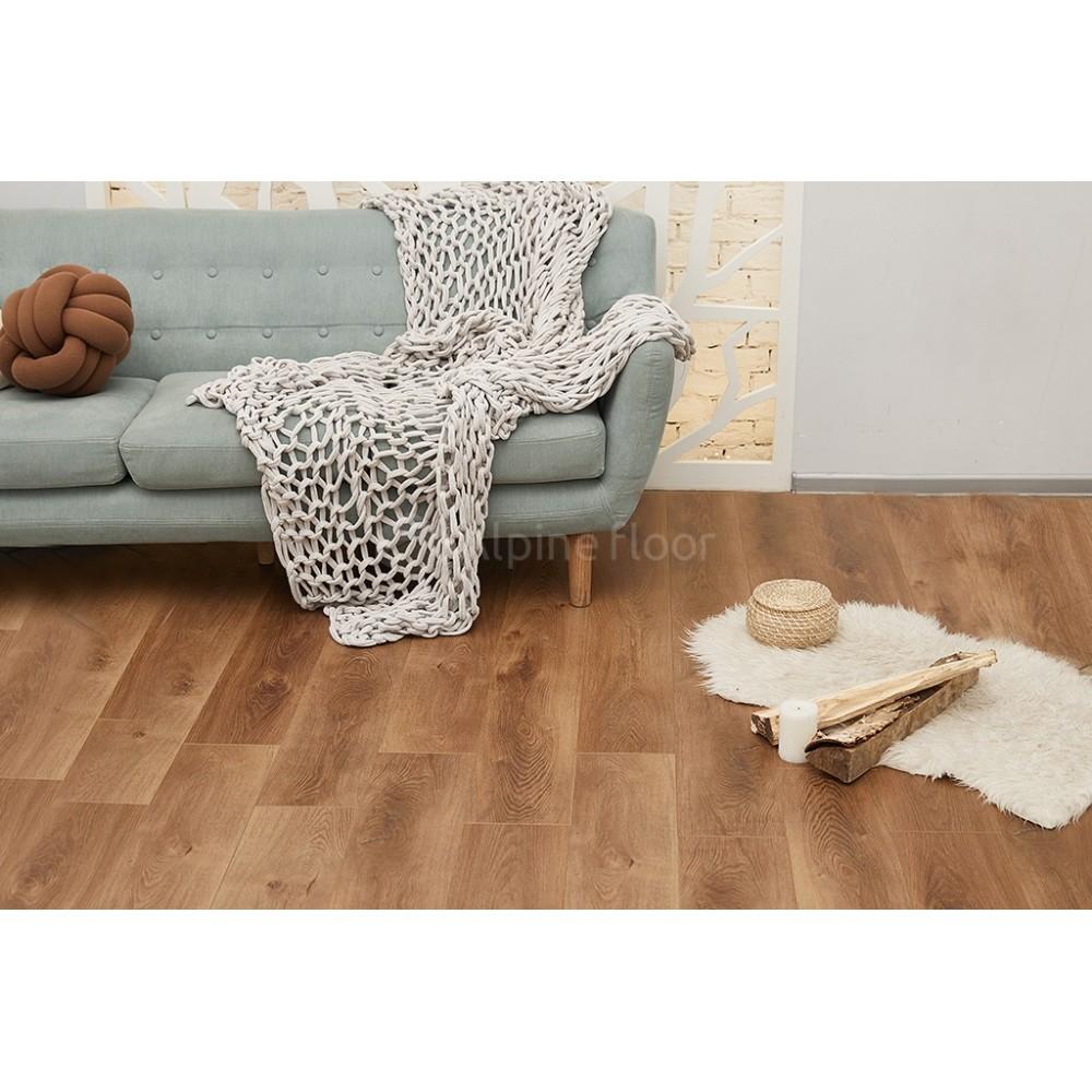 Кварцвиниловая плитка Alpine Floor Premium XL ECO 7-7 Дуб Насыщенный